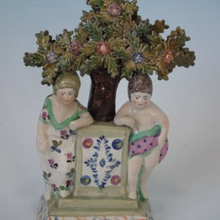 Staffordshire Pearlware Children & bocage figure