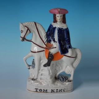 Staffordshire Tom King on horseback figure