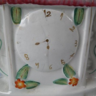 Staffordshire 'Wesley' titled clock group