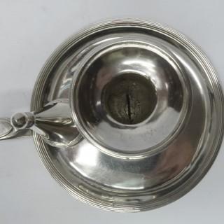 Georgian Silver Chamber Stick