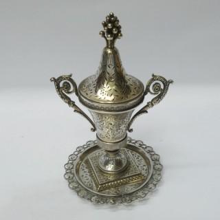 Antique Turkish Silver Incense Burner