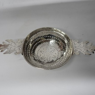 Antique Queen Anne Silver Lemon Strainer