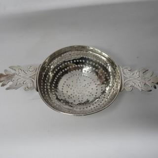 Antique Queen Anne Silver Lemon Strainer