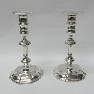 George II Silver Candlesticks