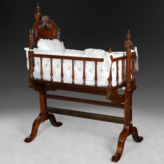 Regency Rosewood Child's Cradle