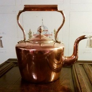 Mid 19th century Copper and brass Kettle