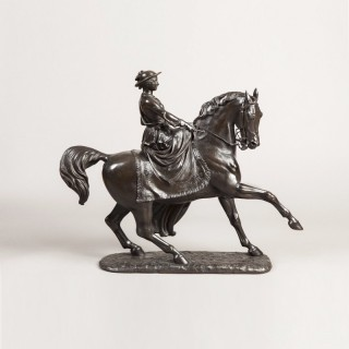 Bronze Equestrian Statue of the Young Queen Victoria