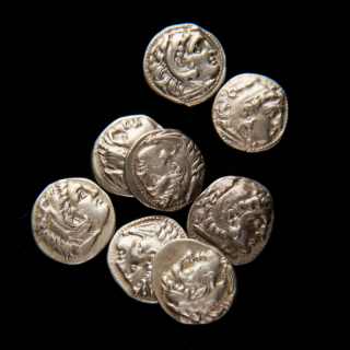 Selection of Alexander the Great silver coins