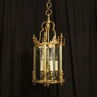 French Bronze Five Light Antique Lantern