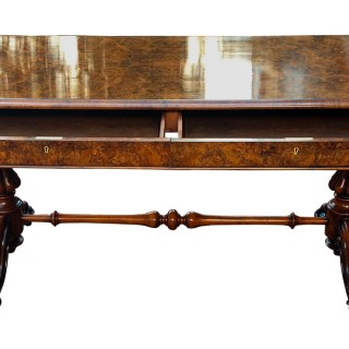 Antique Walnut Writing Table or Sofa Table