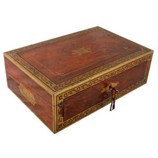 Regency Brass Inlaid Box Desk
