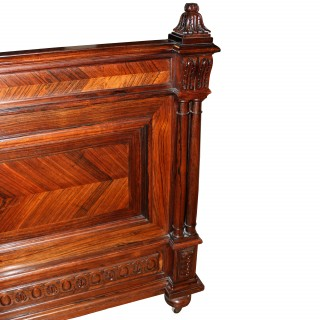 French Rosewood Double Bed