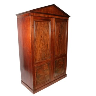 Georgian Mahogany Hanging Wardrobe