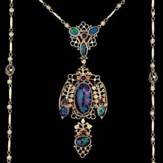 JOHN HAUGHTON MAURICE BONNOR (1875-1917) Superb Arts & Crafts Necklace