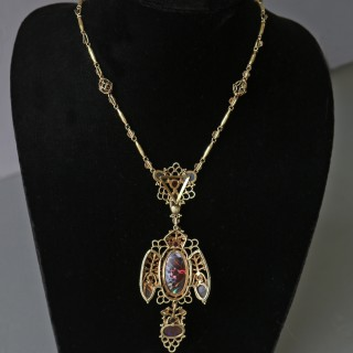JOHN HAUGHTON MAURICE BONNOR (1875-1917) Superb Arts & Crafts Necklace