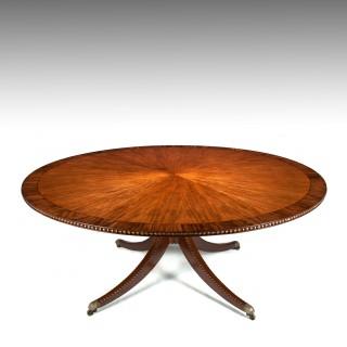 Huge 6 Ft Circular Late Victorian Mahogany Dining Table