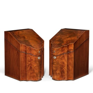 George lll mahogany knife boxes