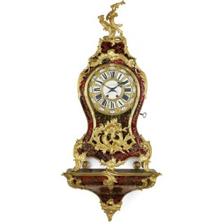 Louise XV Style Boulle Marquetry Bracket Clock