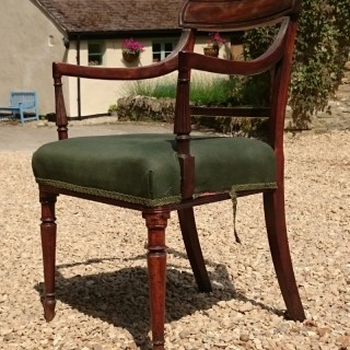 Early 19th Century George III Period Mahogany Carver Chair