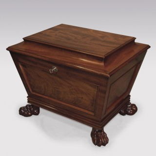 Small 19th Century Regency period mahogany Wine Cooler.