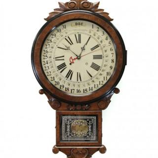 American Gilbert Maranville Calendar Wall Clock