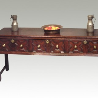 Charles II oak dresser base