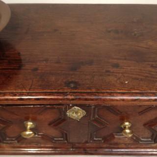 Charles II oak dresser base