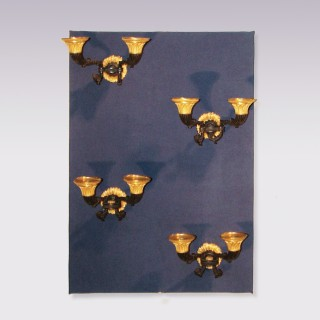 A set of 4 early 19th Century French bronze & ormolu Wall Lights.