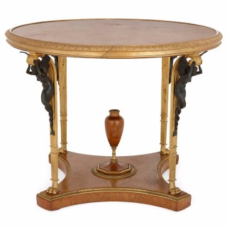 Antique ormolu mounted centre table by Zwiener Jansen Successeur