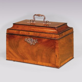 Chippendale period mahogany Tea Caddy.
