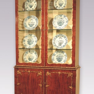 Mid 18th Century mahogany & gilt gesso Display Bookcase.