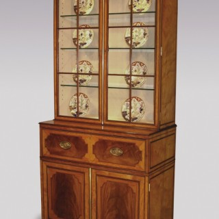 A fine quality 18th Century satinwood Secretaire Bookcase.
