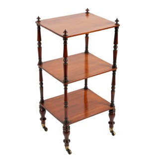 George IV Rosewood Three Tier Étagère