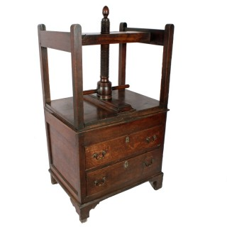 18th Century Oak & Mahogany Book Press