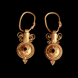Roman gold amphora style earrings