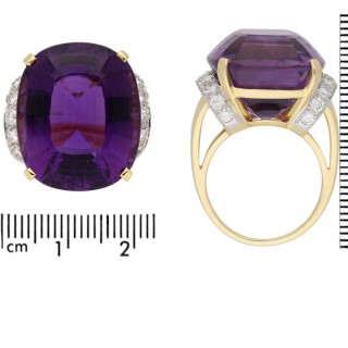 Vintage amethyst and diamond cocktail ring by Tiffany & Co