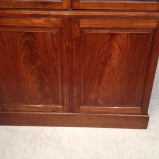Georgian mahogany bookcase.