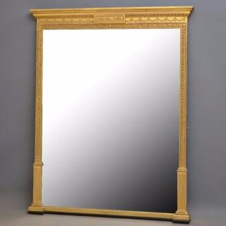 Elegant Victorian Gilt Mirror