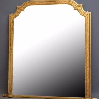 Large Victorian Gilt Mirror