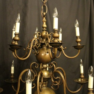 Flemish Bronze 12 Light Antique Chandelier