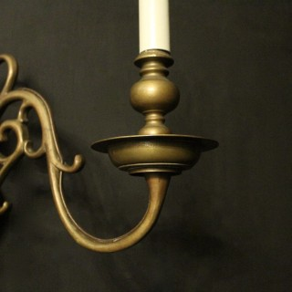 Flemish Set Of 4 Bronze Antique Sconces