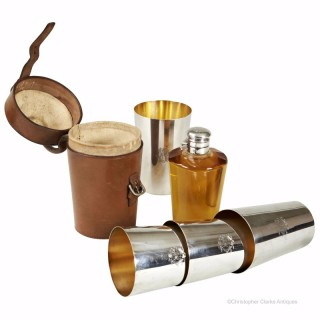 Vintage Cased Flask & Beakers by Dixon