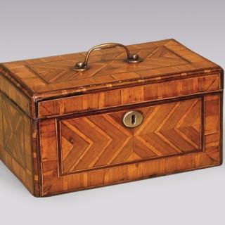 Antique George II period walnut veneered Tea Caddy.