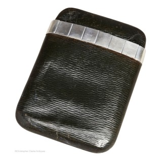 Silver Banded Cigar Case