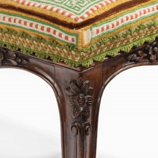 A pair of Victorian rosewood stools