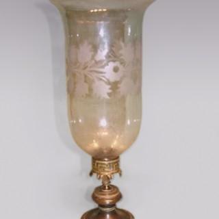 Regency period bronze and ormolu Storm Lamp.