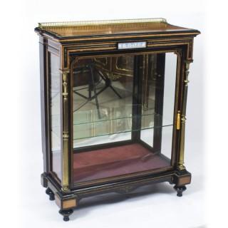 Antique Victorian Amboyna & Ebonised Pier Cabinet 19th C
