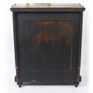 Antique Victorian Amboyna & Ebonised Pier Cabinet 19th C