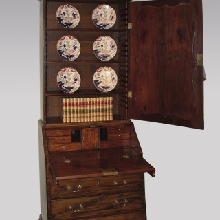 18th Century mahogany Bureau Bookcase
