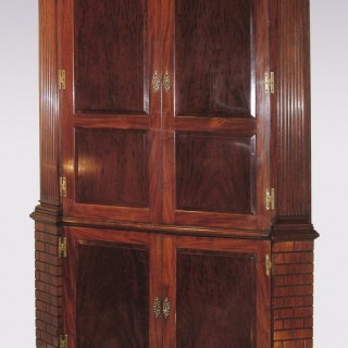 18th Century mahogany Corner Cupboard.